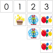 0 to 10 Numbers and Counters (Birthday) - Printable Montessori Math Materials by Montessori Print Shop.