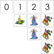 0 to 10 Numbers and Counters (Christmas) - Printable Montessori Math Materials by Montessori Print Shop.
