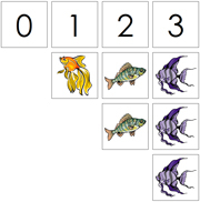 0 to 10 Numbers and Counters (Fish) - Printable Montessori Math Materials by Montessori Print Shop.