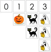 0 to 10 Numbers and Counters (Halloween) - Printable Montessori Math Materials by Montessori Print Shop.