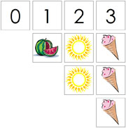 0 to 10 Numbers and Counters (Summer) - FREE Printable Montessori Math Materials for home and school.