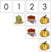 0 to 10 Numbers and Counters (Thanksgiving) - Printable Montessori Math Materials by Montessori Print Shop.
