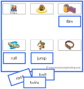 Blue Phonetic Sheets and Labels - Printable Montessori Learning Materials by Montessori Print Shop.