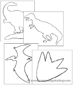 Dinosaurs Pin Poking & Cutting - Printable Montessori Learning Materials by Montessori Print Shop.