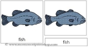 Fish Nomenclature Cards - Printable Montessori Learning Materials by Montessori Print Shop.