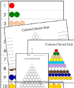 Montessori Colored Bead Control Chart - Printable Montessori Learning Materials by Montessori Print Shop.
