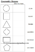 Worksheets for Geometric Shapes - Printable Montessori Learning Materials by Montessori Print Shop.