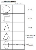 Worksheets Montessori Math Worksheets worksheets for geometric solids printable montessori math materials learning by print shop