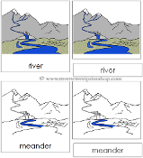 River Nomenclature Cards - Printable Montessori Learning Materials by Montessori Print Shop.
