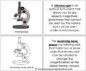 Microscope Nomenclature Book - Printable Montessori Nomenclature Materials by Montessori Print Shop.