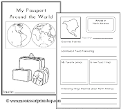 Geography Passport - Printable Montessori Geography Materials for home and school.