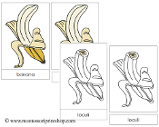 Banana Nomenclature Cards - Printable Montessori Nomenclature Materials by Montessori Print Shop.