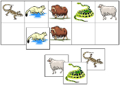 Animal Match-Up & Memory Game - Printable Montessori preschool materials by Montessori Print Shop.