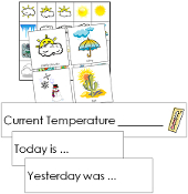 Weather Tracking Cards - Printable Montessori materials by Montessori Print Shop.