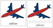 Airliner Nomenclature Cards - Printable Montessori Learning Materials by Montessori Print Shop.