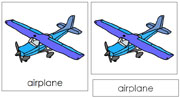 Airplane Nomenclature Cards - Printable Montessori Learning Materials by Montessori Print Shop.