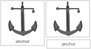 Anchor Nomenclature Cards - Printable Montessori Learning Materials by Montessori Print Shop.