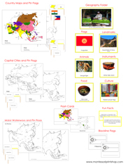 Asia Deluxe Geography Bundle - Printable Montessori Geography Materials by Montessori Print Shop.