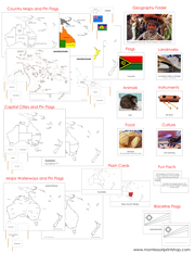 Australia/Oceania Deluxe Geography Bundle (NCB) - Printable Montessori Geography Materials by Montessori Print Shop.