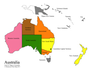 Australia Control Maps and Masters - Printable Montessori Learning Materials by Montessori Print Shop.