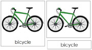 Bicycle Nomenclature Cards - Printable Montessori Learning Materials by Montessori Print Shop.