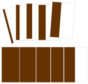 Broad/Brown Stair Cards Cornered - Printable Montessori Sensorial materials by Montessori Print Shop.