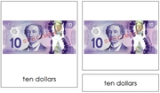 Canadian Currency - Printable Montessori Learning Materials by Montessori Print Shop.