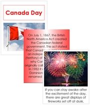 Canada Day Cards and Booklet - Printable Montessori celebration materials by Montessori Print Shop.