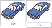 Car Nomenclature Cards - Printable Montessori Learning Materials by Montessori Print Shop.