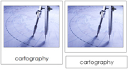 Cartography Nomenclature Cards (Basic Concepts) - Printable Montessori Learning Materials by Montessori Print Shop.