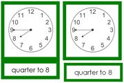 Clock Series - Printable Montessori Learning Materials by Montessori Print Shop.