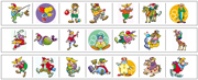 Clown Cutting Strips - Printable Montessori preschool Materials by Montessori Print Shop.