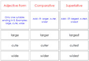 Comparatives and Superlatives - Printable Montessori Learning Materials for home and school.