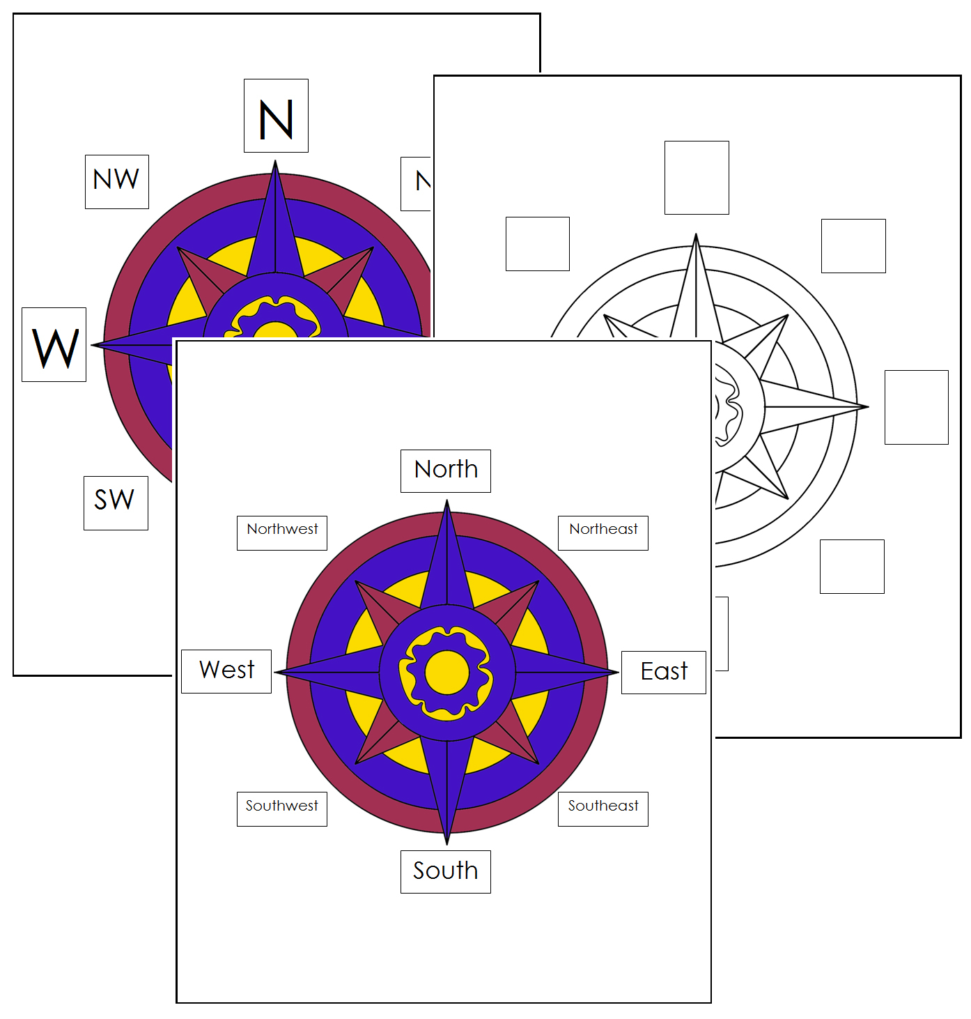 Worksheets Compass Rose Worksheets free compass rose worksheets control charts printable geography