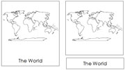 Continents of the World (no color) - Printable Montessori Learning Materials by Montessori Print Shop.