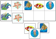 Coral Reef Animals Match-Up & Memory Game - Printable Montessori preschool materials by Montessori Print Shop.