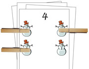 Counting Cards (Winter) - Printable Montessori Math Materials by Montessori Print Shop.