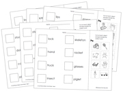 Phonics Sheets (Cut & Paste) - Step 1 - Printable Montessori Language Materials for home and school.