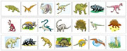 Dinosaur Cutting Strips - Montessori Practical Life Materials by Montessori Print Shop. Free Montessori Materials