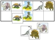 Dinosaur Match-Up & Memory Game - Printable Montessori Learning Materials by Montessori Print Shop.