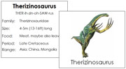 Dinosaurs Cards Set 2 - Printable Montessori Learning Materials by Montessori Print Shop.