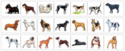 Dog Cutting Strips - Printable Montessori preschool Materials by Montessori Print Shop.