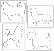 Pin Poke Dogs - Printable Montessori materials by Montessori Print Shop.