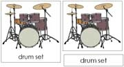 Drum Nomenclature Cards - Printable Montessori Learning Materials by Montessori Print Shop.