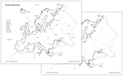 Europe Waterways Map - Printable Montessori Learning Materials by Montessori Print Shop.