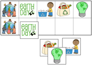 Earth Day Match-Up & Memory Game - Printable Montessori preschool materials by Montessori Print Shop.