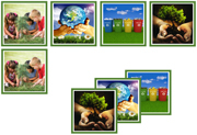 Earth Day Matching Cards - Printable Montessori Materials by Montessori Print Shop.