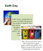 Earth Day Cards and Booklet - Printable Montessori Learning Materials by Montessori Print Shop.