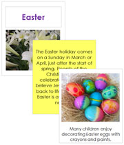 Easter Cards and Booklet - Printable Montessori celebration materials by Montessori Print Shop.