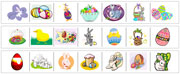 Easter Cutting Strips - Printable Montessori preschool Materials by Montessori Print Shop.